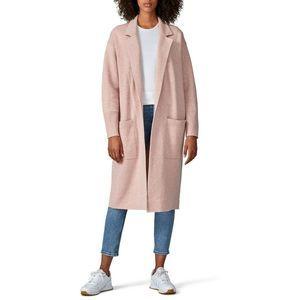 J.Crew NWT Ella Open Front Long Coat Pink XL